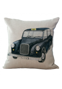 Pillow Case / Cushion Cover - Vintage Taxi