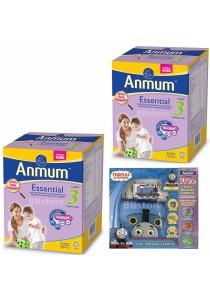 2X Anmum Essential Step 3 (1+years) 1.2kg Plain + FOC Thomas Friend Playmat Carrier