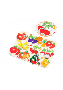Educational Learning Wood Puzzle - Fruits