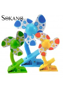 Sokano Mulitpurpose Clip On Fan For Baby Stroller, Cradlle, Bassinet, Play Gym and More