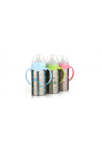 Stainless Steel Thermal Baby Bottle (220ml) - Pink