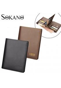 Pabojoe 820 Premium Men Wallet Genuine Cowhide Leather Wallet Vertical