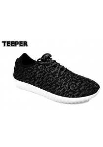 TEEPER C329G Women Outdoor Sports Canvas Shoes - Black