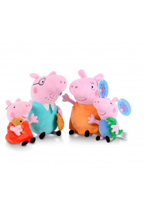 Peppa Pig Family Set of 4 Soft Toys - Summer Design