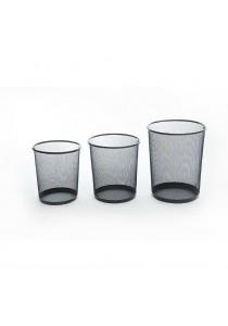 A Set of 3 Multi-Sized Waste Paper Bins (Black)