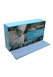 Hagen's V101 All-Purpose Blue Kitchen Cloths (25 pcs/box)