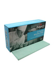 Hagen's V101 All-Purpose Green Kitchen Cloths (25 pcs/box)