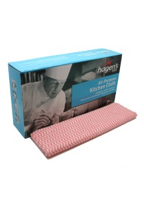 Hagen's V101 All-Purpose Red Kitchen Cloths (25 pcs/box)