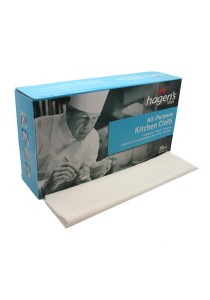 Hagen's V101 All-Purpose White Kitchen Cloths (25 pcs/box)