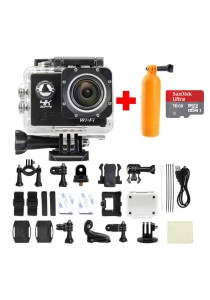 Action Camera V3 4K Black 2 inches LCD Built in Wifi + Micro SD Ultra 16GB + Diving Pod