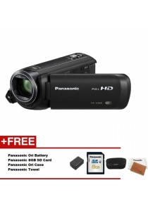 Panasonic HC-V380K V380 Full HD Camcorder + Extra Battery + 8GB + Case + Towel (Official Panasonic)