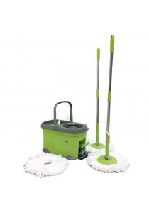 ASOTV Spin Mop V8 with 3 Mop Heads and 2 Handle Bars (Quad Device)