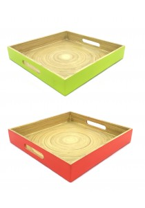 Oriental Tree Square Serving Tray