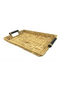 Weave & Woven Rectangular Tray with Handle (Natural)
