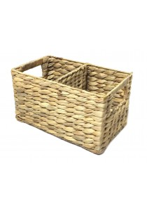 Weave & Woven Rectangular Divided Basket (Natural)