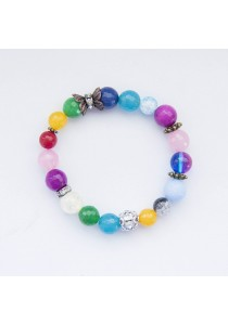 Vibrance Fun Colour Beaded Gemstone Bracelet Handmade by Shirleen Jeweliciouss