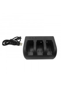 Viloso Triple Battery Charger with USB Cable for Gopro Hero 5 Black Camera (AHDBT-501)