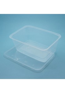 Wiz Disposable Plastic Container 1000A with Lid x 50pcs