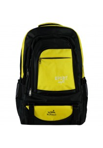 W.POLO 21 Inch WH9636 Hiking Backpack - Black/Yellow
