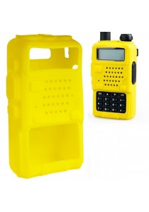 Protective Silicone Case Cover Holster for Baofeng Walkie Talkie UV-5R/5RA/ 5RB/ 5RTP/ TYT-THF8 - Yellow