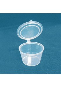 Wiz Disposable Plastic Sauce Cup SC25 with Lid x 200pcs
