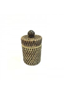 Weave & Woven Cotton Holder (Brown Wash)