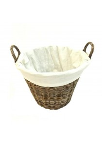 Weave & Woven Laundry Round Basket (Natural)