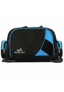 """Waterpolo 18"""" WT1572R Multi-Compartment Trolley Travelling Duffel/Sports Bag (Black/Blue)"""