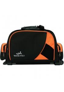 "Waterpolo 18"" WT1572R Multi-Compartment Trolley Travelling Duffel/Sports Bag (Black/Orange)"