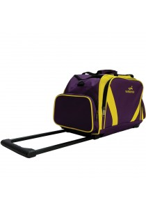 New arrival Waterpolo WT1693R Trolley Travelling Duffel/Sport Bag (Purple/Yellow)