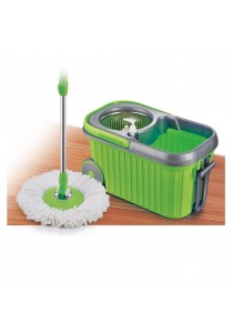 Easy Mop with Stainless Steel Basket & Wheels
