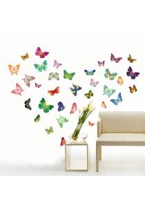 Walplus 34pcs Colorful Butterflies Wall Stickers