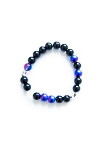Whatever Handmade Unisex Beaded Bracelet (Purple Blue)