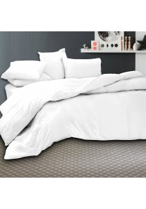 Essina 100% Cotton 620TC Fitted Bed sheet set Candies Collection White - Queen