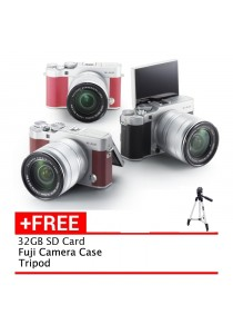 Fujifilm X-A3 16-50mm (Brown/Pink/Silver) + 32GB + Case (Fujifilm Malaysia warranty)