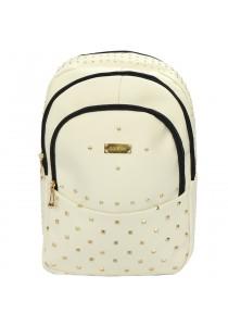 EDISON XB1508 Casual Stylish PU Waterproof Backpack 18 (White)