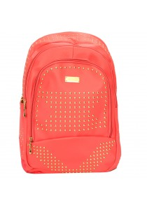 EDISON XB1509 Casual Stylish PU Waterproof Backpack 18 (Orange)
