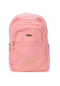 """EDISON XB1510 Casual Stylish PU Waterproof Backpack 18"""" (Pink)"""