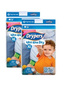 2 Packs Wee Wee Drypers Diaper XL50