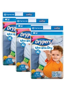 3 Packs Wee Wee Drypers Diaper XL50