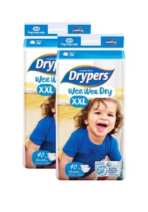 2 Packs Wee Wee Drypers Diaper XXL40