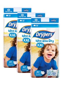 3 packs Wee Wee Drypers Diaper XXL40
