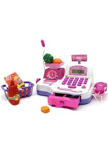 Cash Register Pretend Play Electronic with Scale - Calculator Function