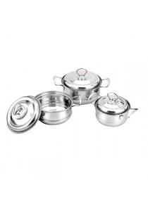 Idea Stainless Steel Cookware Set With S/S Handle 16/18/20cm 6pcs