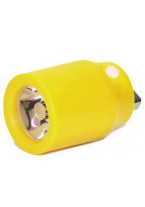 Colourful Mini Portable USB Flashlight White LED Light - Yellow