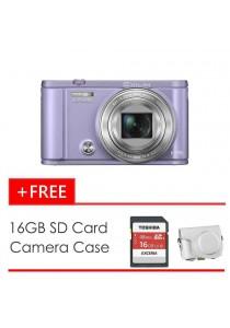 Casio Exilim ZR3600 Light Violet + 16GB SD Card + Case (Original Malaysia Warranty)