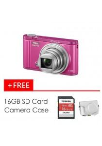 Casio Exilim ZR3600 Pink + 16GB SD Card + Case (Original Malaysia Warranty)
