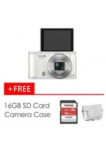 Casio Exilim ZR3600 White + 16GB SD Card + Case (Original Malaysia Warranty)