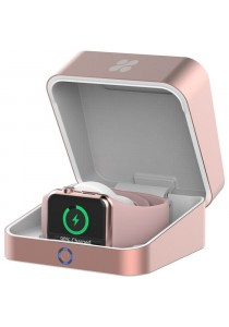 Promate 'auraBox' Wireless Charging Box for Apple Watch/Built-In Battery/1 USB Charging Port - Pink