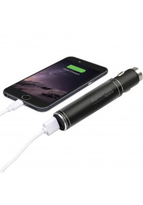 Promate Spark 2-in-1 Aluminum 12V USB Car Charger with Emergency Hammer and Powerbank